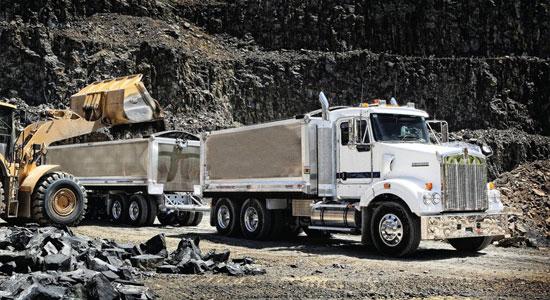 Kenworth T409SAR in quarry